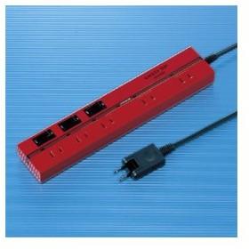 アウトレット 節電タップ 電源コンセント セーフティタップ レッド 2P 5個口 2m playstation4 アウトレット わけあり 訳あり(TAP-2531ER)