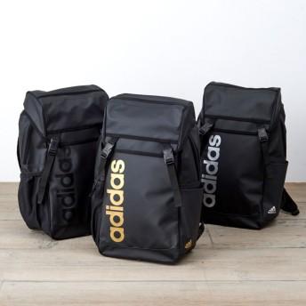 adidas(アディダス)/チェストベルト付かぶせリュック(18L)ブラックXシルバー