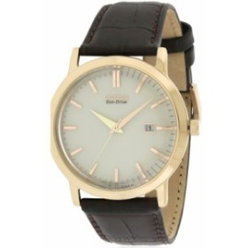 シチズン 腕時計 Citizen Eco-Drive Rose Gold-Tone Leather Watch