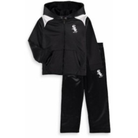 Majestic マジェスティック スポーツ用品  Majestic Chicago White Sox Toddler Black Play Action Full-Zip Hoodie & Pan