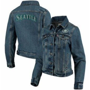 Levis リーバイス アウターウェア ジャケット/アウター Levis Seattle Mariners Womens Denim Trucker Jacket