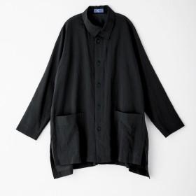 bx/ビーエクス ペーパーコットン 重ね襟ビッグシャツ 【大きいサイズ L・LL・3L・4L】オレンジL4L