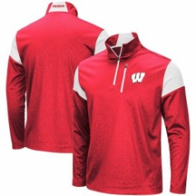 Colosseum コロセウム スポーツ用品  Colosseum Wisconsin Badgers Red Luge Quarter-Zip Pullover Jacket