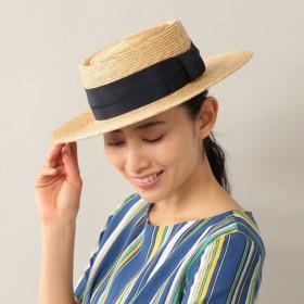 SALE【アマカ(AMACA)】 【AMACA×田中帽子店】 カンカン帽 ネイビー