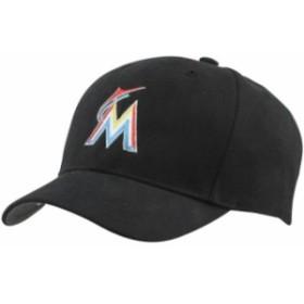 47 フォーティーセブン スポーツ用品  47 Brand Miami Marlins Youth Basic Structured Cap - Black