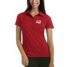Antigua アンティグア スポーツ用品  Antigua Womens Red Richmond Raceway Logo Pique Desert Dry Xtra Lite Polo