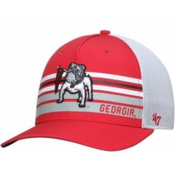 47 フォーティーセブン スポーツ用品  Georgia Bulldogs 47 Altitude Trucker Adjustable Snapback Hat  Red