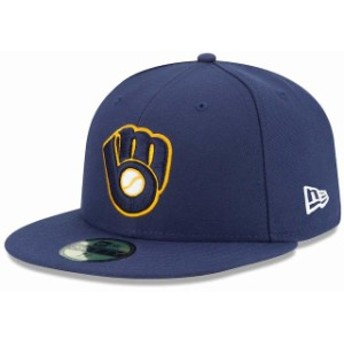 New Era ニュー エラ スポーツ用品 New Era Milwaukee Brewers Navy Alternate 2 Authentic On Field 59FIFTY Fitted Hat