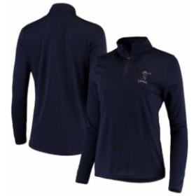 Titania Golf タイタニア ゴルフ アウターウェア ジャケット/アウター LPGA Womens Navy 1/4-Zip Jacket