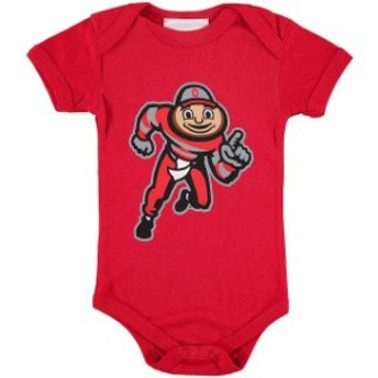 Two Feet Ahead トゥー フィート アヘッド スポーツ用品 Ohio State Buckeyes Infant Scarlet Big Logo Bodysuit