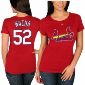 Majestic マジェスティック スポーツ用品  Majestic Michael Wacha St. Louis Cardinals Womens Red Name and Number T-Sh