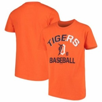 Outerstuff アウタースタッフ スポーツ用品 Detroit Tigers Youth Orange Team Trainer T-Shirt