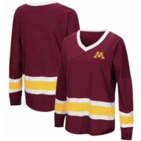 Colosseum コロセウム スポーツ用品  Colosseum Minnesota Golden Gophers Womens Maroon Marquee Players Oversized Long Sl