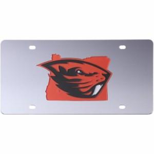 ストックデール Stockdale Oregon State Beavers Acrylic State Shape Silver Mirror License Plate スポーツ用品