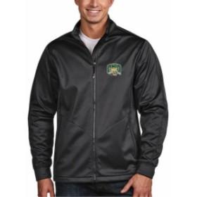Antigua アンティグア スポーツ用品  Antigua Ohio Bobcats Charcoal Golf Full-Zip Jacket