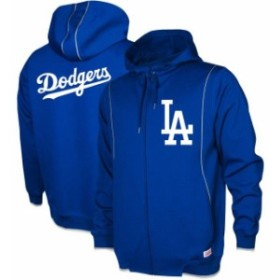 Stitches スティッチ スポーツ用品  Stitches Los Angeles Dodgers Royal Logo Full-Zip Hoodie