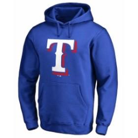 Fanatics Branded ファナティクス ブランド スポーツ用品  Texas Rangers Royal Team Color Primary Logo Pullover Hoo