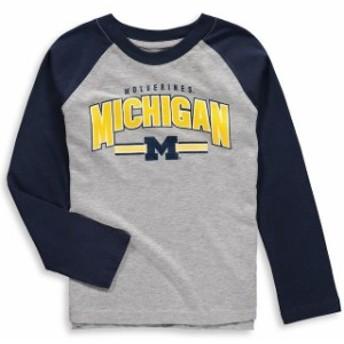 Outerstuff アウタースタッフ スポーツ用品 Michigan Wolverines Preschool & Toddler Heathered Gray Audible Long Slee