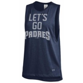 Under Armour アンダー アーマー 服 タンクトップ Under Armour San Diego Padres Womens Navy Pride Sleeveless Perform