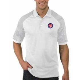Antigua アンティグア スポーツ用品  Antigua Chicago Cubs White/Gray Engage Polo