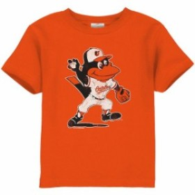 Soft as a Grape ソフト アズ ア グレープ スポーツ用品  Baltimore Orioles Toddler Distressed Mascot Logo T-Shirt -