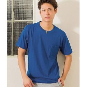 【27%OFF】 シルバーバレット VICCI無地ポケット付きビッグシルエットクルーネック半袖Tシャツ メンズ ブルー 44(M) 【SILVER BULLET】 【セール開催中】