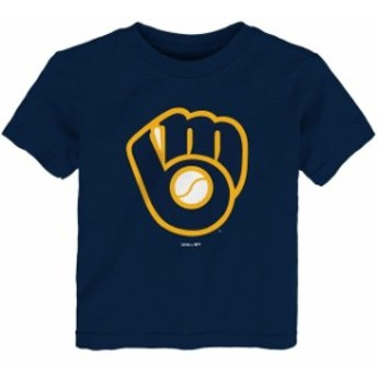 Outerstuff アウタースタッフ スポーツ用品 Milwaukee Brewers Toddler Navy Team Primary Logo T-Shirt