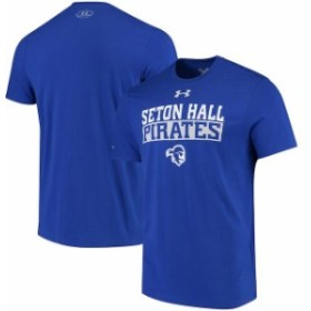 Under Armour アンダー アーマー スポーツ用品  Under Armour Seton Hall Pirates Royal Team Bar Charged Performance T-