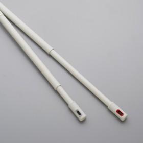 nasta/ナスタ 室内物干し 伸縮物干し竿ホワイトレッド
