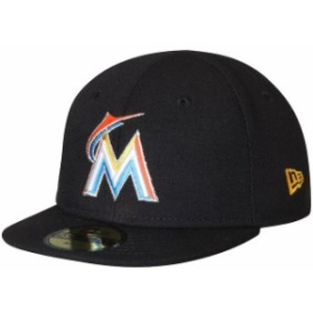 New Era ニュー エラ スポーツ用品 New Era Miami Marlins Infant Black 2018 Authentic Collection On-Field My First 59FI