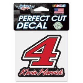 WinCraft ウィンクラフト スポーツ用品  WinCraft Kevin Harvick 4 x 4 Signature Color Perfect Cut Decal