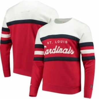 Mitchell & Ness ミッチェル アンド ネス 服 スウェット Mitchell & Ness St. Louis Cardinals Red Coaches Crew Neck S