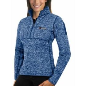 Antigua アンティグア スポーツ用品  Antigua NASCAR Womens Royal Fortune Half-Zip Pullover Jacket