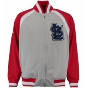 Stitches スティッチ アウターウェア ジャケット/アウター Stitches St. Louis Cardinals Gray Wordmark Brushed T