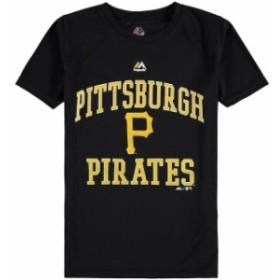 Majestic マジェスティック スポーツ用品  Majestic Pittsburgh Pirates Youth Black City Wide Cool Base T-Shirt