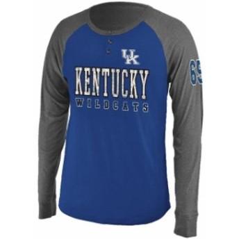 Colosseum コロセウム スポーツ用品 Colosseum Kentucky Wildcats Royal/ Heather Gray Spotter Lightweight Long Sleeve He