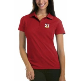 Antigua アンティグア スポーツ用品  Antigua Paul Menard Womens Red Pique Desert Dry Xtra-Lite Polo