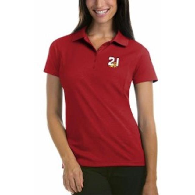 Antigua アンティグア スポーツ用品  Antigua Paul Menard Womens Red Pique Desert Dry Xtra-Lite Polo