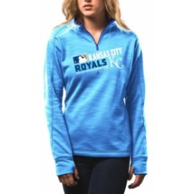 Majestic マジェスティック スポーツ用品  Majestic Womens Kansas City Royals Light Blue Authentic Collection 1/4-Zip