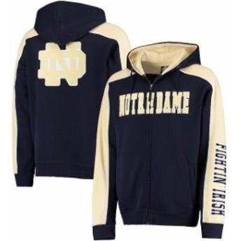 Colosseum コロセウム スポーツ用品 Colosseum Notre Dame Fighting Irish Navy/Gold Thriller II Full-Zip Hoodie