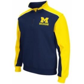 Colosseum コロセウム スポーツ用品  Colosseum Michigan Wolverines Navy/Maize Thriller II Quarter-Zip Pullover Jacket