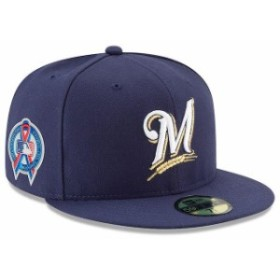 New Era ニュー エラ スポーツ用品  New Era Milwaukee Brewers Navy 2018 9/11 Authentic Collection 59FIFTY Fitted Hat