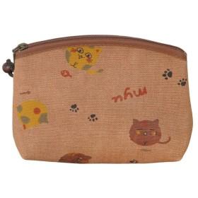 ヤマコー柿渋染 アーチポーチ カラー猫88201 JAN: 4988484882014(お取り寄せ商品)[T]