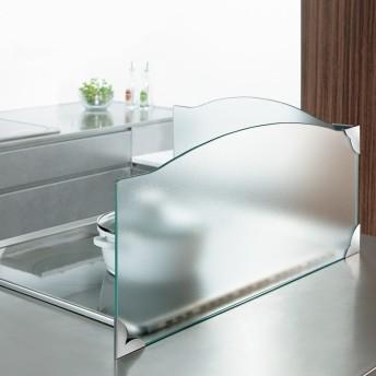ガラスのコーナーレンジガード コンロ幅60cm用クリア