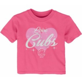 Outerstuff アウタースタッフ スポーツ用品  Chicago Cubs Girls Infant Pink Heart Stars T-Shirt