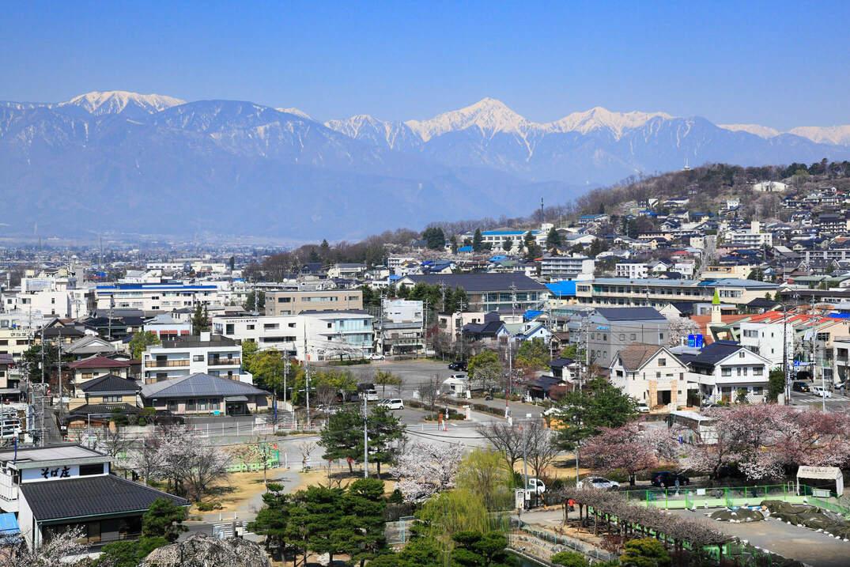 長野県の松本市街