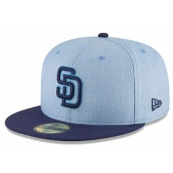 New Era ニュー エラ 服 New Era San Diego Padres Light Blue 2018 Fathers Day On Field 59FIFTY Fitted Hat
