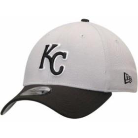New Era ニュー エラ スポーツ用品  New Era Kansas City Royals Gray/Black Team Classic 39THIRTY Flex Hat