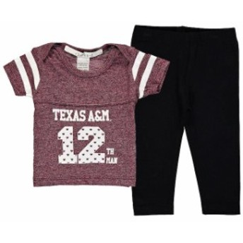 chicka-d チッカ スポーツ用品 Texas A&M Aggies chicka-d Girls Infant Maroon Boxy Crop Top and Leggings Set