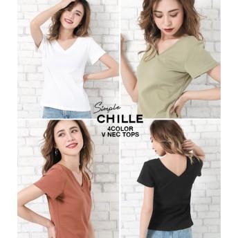【セール開催中】ANAP(アナップ)両VネックシンプルTシャツ